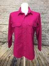 Woolrich Womens Hot Pink Longsleeve Cotton Blouse w Pockets on Chest Siz... - $8.59