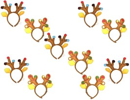 Kids Funny REINDEER ANTLER HEADBANDS Ugly Xmas Sweater Party-WHOLESALE 1... - €21,71 EUR