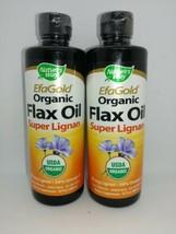 (2 Pack) Nature's Way Efagold Flax Oil Super Lignan 16 fl oz Liquid - $22.76
