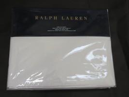 Ralph Lauren Norfolk Estate Bond White king flat sheet NIP - $94.00