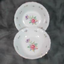 Vintage Winterling Bavaria Pair Bowls, Gold Trim, Meissen Gardens (?), 6... - $23.36