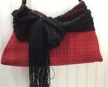My Destiny One of a Kind Designer Handbag Purse Tote Red Black 22908