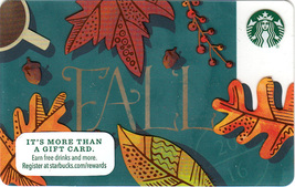 Starbucks 2016 Fall Leaves Collectible Gift Card New No Value - $2.99
