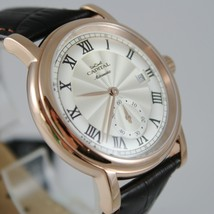 CAPITAL WATCH AUTOMATIC TY2718 MOVEMENT 41 MM PINK CASE ROMAN NUMBER retrò style image 2