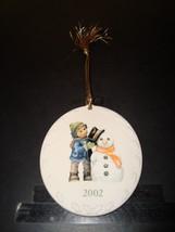 2002 Berta Hummel - Goebel - Christmas Snowman Ornament NM - Mint Condition - $8.09