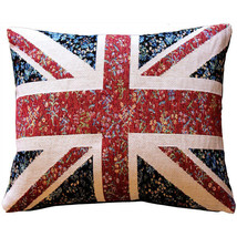 Pillow Decor - United Kingdom Flag Tapestry Throw Pillow 15x19 (AB1-2067... - $79.95