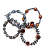 Treska Denali Collection Multi-Strand Beaded Stretch Bracelet in Blue & ... - $39.16 CAD