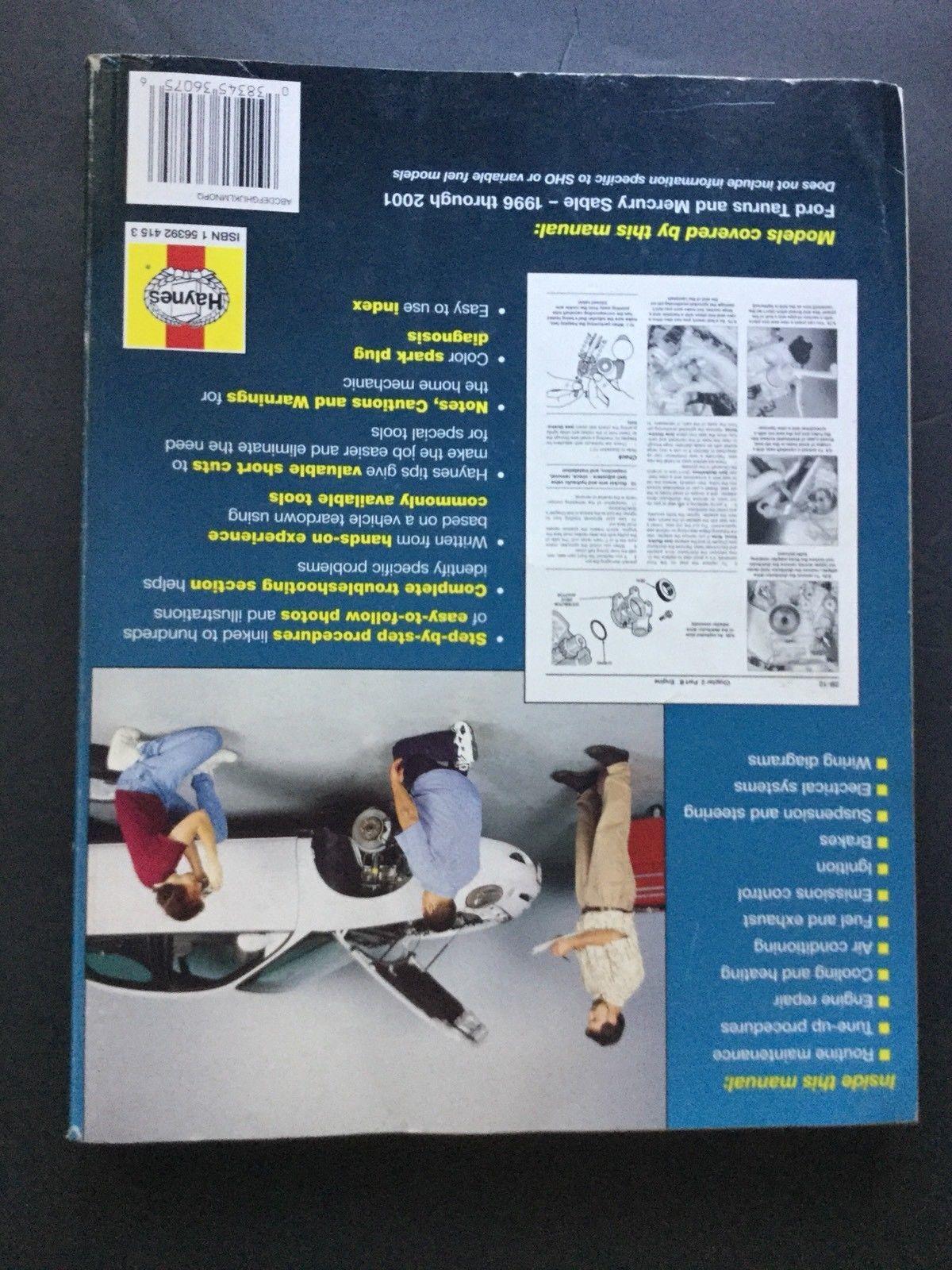 ... Haynes Repair Manual #36075 1996-2001 Ford Taurus and Mercury Sable