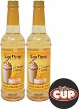 Jordan's Skinny Syrups Sugar Free Vanilla Caramel Creme 750 ml Pack of 2 with By