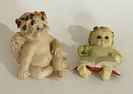 Angel-Baby Figurine Hand Painted Lot of 2 Dreamsicles? Reading Book Sitt... - $5.93
