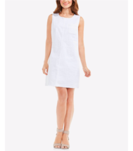 NWT VINCE CAMUTO WHITE DENIM COTTON SHIFT DRESS SIZE L  $119 - $32.91