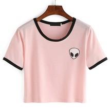 2018 Fashion 3d Print Aliens crop top Short Sleeve T Shirt Women Teenage... - $9.90