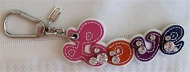 Coach Poppy Love Leather Studded Handbag Charm 92750 Rare HTF NWT Valentine - $59.00
