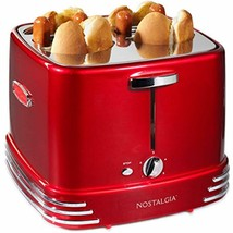 HOT DOG TOASTER BRAND NEW Pops Up Retro Red DRIP TRAY Plug Timer Quick E... - £44.83 GBP
