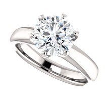 2.00 Carat Ideal Cut Round Brilliant Diamond Solitaire Ring in 14k Gold  - $5,500.00