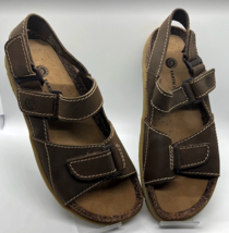 EARTH SHOE Women's Sandals Size 9 Terrain 4 Leather Hook Loop Adjustable... - $32.98