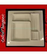 alex liddy White 5 Pc Condiment Serving Tray Platter - $40.09