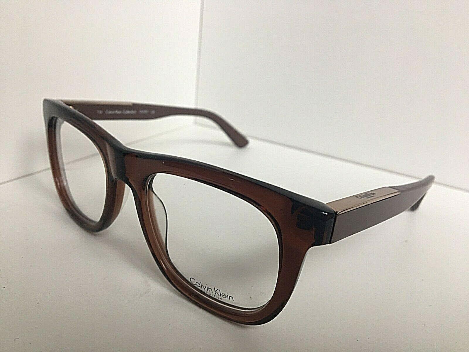New Calvin Klein CK 2779 332 51mm Clear Brown Eyeglasses Frame