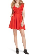 FREE PEOPLE Half Moon Minidress Red Size L - $59.39