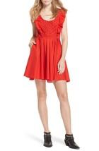 Free People Half Moon Minidress Red Size L - $59.39