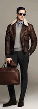 New Men Leather Jacket Motorcycle Slim Fit Biker jackets S M L XL # 300 - $159.00