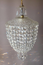 RARE FRENCH PURSE Chandelier Luxury Crystal Light Pendant Lustre Antique... - $750.00