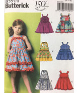 Butterick 5914 Girls Dress and Belt Sewing Pattern Sizes 6. 7.8 - $13.00