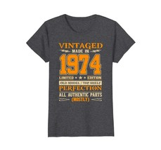 Funny Shirts - Legends Vintage Made In 1974 44th Birthday Gift 44 years ... - $19.95+