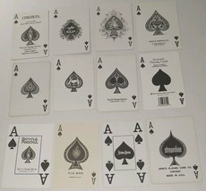 12 Ace of Spades DD Playing Cards Swap Poker Crafts Arts Banners Project - $14.84
