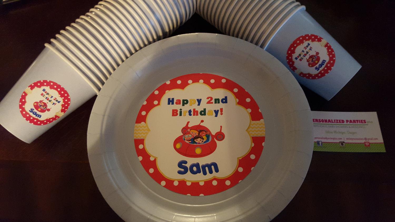 Little Einsteins plates & cups   Little Einstein birthday plates and cups image 4