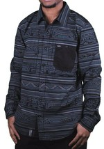 LRG Hombre Sin Babylon Manga Larga Tejido con Botones Abajo Camisa A142016 Nwt