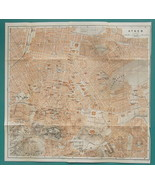 "1934 MAP City Plan 12 x 12"" (31 x 31 cm) - ATHENS Greece - $21.60"