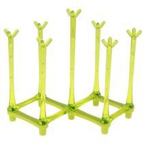 (green)Glass Cup Bottle Drying Rack Holder Drainer Dish Shelf Holder Kit... - $20.00