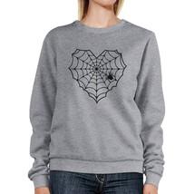 Heart Spider Web Grey Sweatshirt - $20.99+