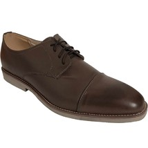 Men's Leather Lined Almond Toed Casual Lace Up Oxford Dress Shoes - Size 11