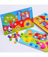 Toys Wooden 3d Puzzles Cognition Board Kid Educational Montessori Game B... - $6.96