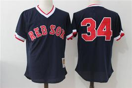 MLB Men's Boston Red Sox Baseball jersey #34 Black - $42.00