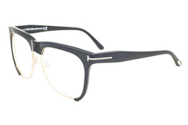 Tom Ford Thea Shiny Black Gold / Clear Sunglasses TF366 001 57mm - $283.22
