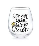 Stemless Bee Buzzed Queen Wine Glasses - $12.95
