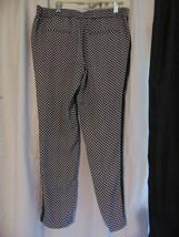 Worthington Women's Dress Pants Size M Slim Fit Pull on Black Printed - $20.79