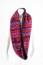 Eddie Bauer Womens Scarf Infinity Aztec Printed Fleece One Size Red Purp... - $39.59