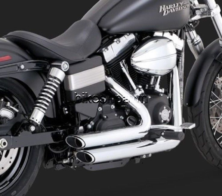 New Vance & Hines Shortshots Staggered Chrome 2012-2016 FXD Dyna Harley