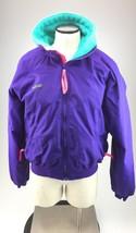 Columbia vintage 1980s mens medium ski winter coat purple pink blue - $17.66