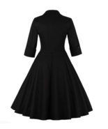 Rockabilly Black Floral Vintage Retro Party Dress Plus Size - $31.37
