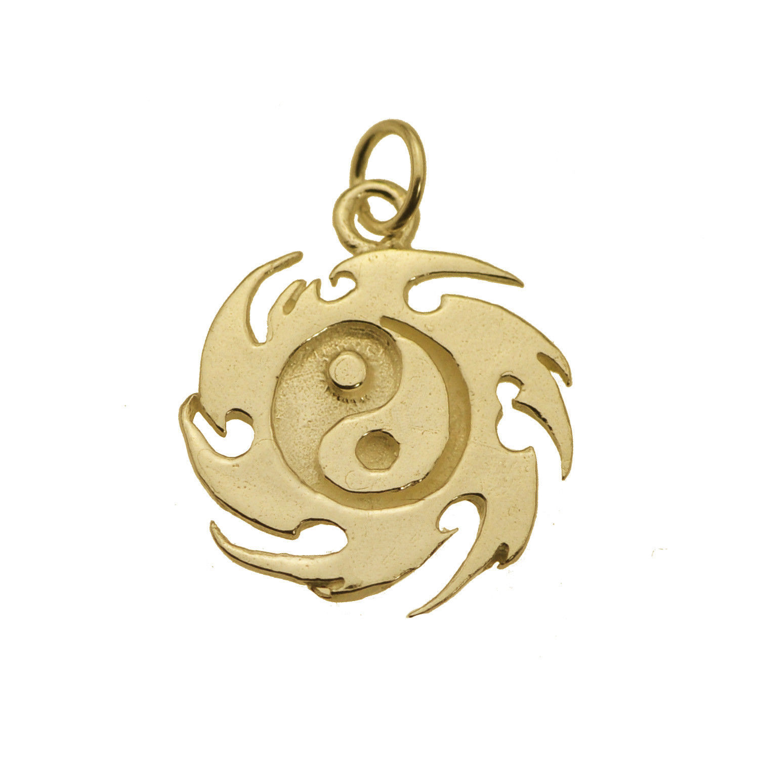 Yin Yang Fire Master Element Real 24K Gold Plated Jewelry New Charm