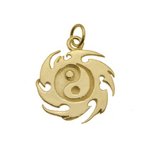Yin Yang Fire Master Element Real 24K Gold Plated Jewelry New Charm - $26.20