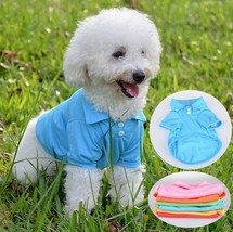Puppy Summer Shirt Small Dog Cat Pet Clothes Costume - €11,93 EUR+