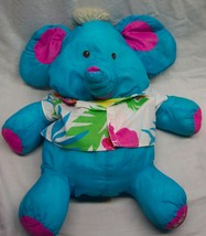 "Fisher-Price 1987 VINTAGE WILD PUFFALUMP BLUE ELEPHANT 18"" Plush Stuffed... - $39.59"