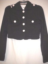 Luella For Target Small Black Military Style Cropped Women Jacket Blazer - $14.01
