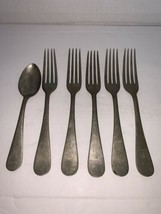 """Rogers Nickle Plated Silver 5 Forks And 1 Spoon W/ Initial """"E"""" (SMetal 47) - $10.00"""